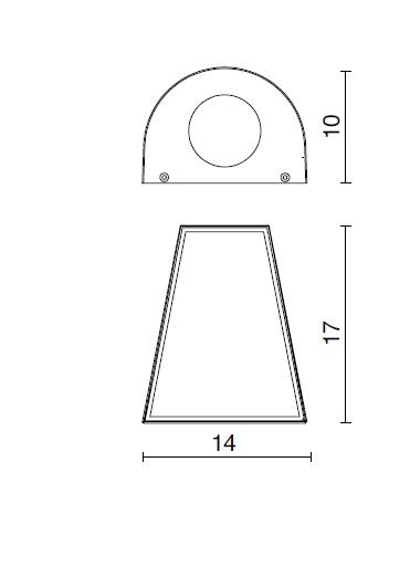 Kinkiet zewnętrzny Alix 453A-G21X1A-04 Dopo